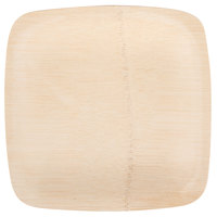 Bambu 063100 7 inch Disposable Square Bamboo Plate   - 25/Pack