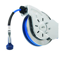 T&S B-7112-08H 15' Open Stainless Steel Hose Reel with B-0108-H High Flow JeTSpray Spray  Valve