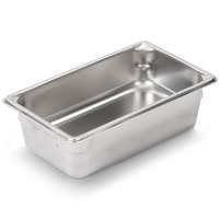 Vollrath Super Pan V 30442 1/4 Size Anti-Jam Stainless Steel Steam Table / Hotel Pan - 4 inch Deep