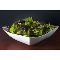 Fineline Wavetrends 128-WH White Plastic Serving Bowl 128 oz. - 25 / Case