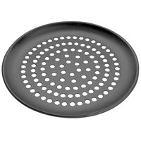 American Metalcraft HCCTP18SP 18 inch Super Perforated Hard Coat Anodized Aluminum Coupe Pizza Pan