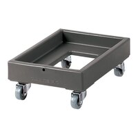 Cambro CD1327180 Light Gray Camdolly Milk Crate Dolly - 300 lb.