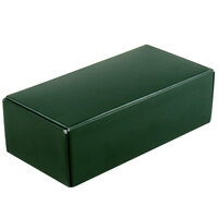 5 1/2 inch x 2 3/4 inch x 1 3/4 inch 1-Piece 1/2 lb. Green Candy Box - 250 / Case