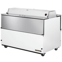 True TMC-49-DS-SS 49 inch White Two Sided Milk Cooler with Stainless Steel Interior