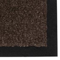 Teknor Apex NoTrax T37 Atlantic Olefin 434-319 3' x 60' Dark Toast Roll Carpet Entrance Floor Mat - 3/8 inch Thick