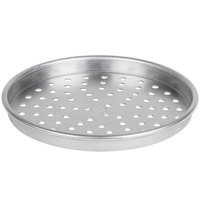 American Metalcraft PHA4011 11 inch x 1 inch Perforated Heavy Weight Aluminum Straight Sided Pizza Pan