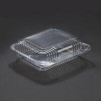 Dart Solo C26UT1 StayLock 7 inch x 6 inch x 2 1/8 inch Clear Hinged Plastic 7 inch Small Oblong Container - 250 / Case