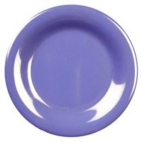 6 1/2 inch Purple Wide Rim Melamine Plate 12 / Pack