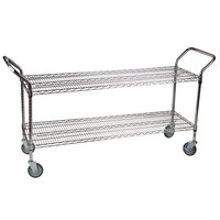 Regency 24 inch x 60 inch Two Shelf Chrome Heavy Duty Utility Cart
