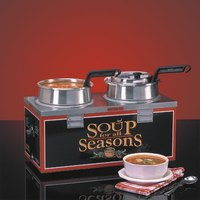 Nemco 6510A-2D4P Double Well 4 qt. Soup Warmer