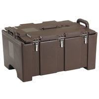 Cambro 100MPC131 Camcarrier Dark Brown Top loading Pan Carrier with Handles for 12 inch x 20 inch Food Pans