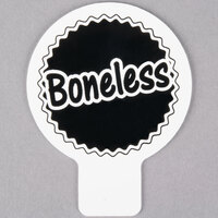 Deli Tag Topper - BONELESS - Black