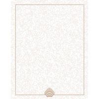 8 1/2 inch x 11 inch Menu Paper - Tan Shell Border - 100 / Pack