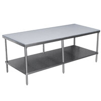 Advance Tabco SPT-309 Poly Top Work Table 30 inch x 108 inch with Undershelf