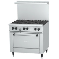 Garland SunFire Series X36-2G24R Natural Gas 2 Burner Gas Range with 24 inch Griddle and Standard Oven