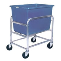 Winholt 30-6-SS/BL Stainless Steel Bulk Mover with 6 Bushel Blue Tub