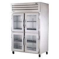 True STA2R-4HG Specification Series Glass Half Door Reach In Refrigerator - 56 Cu. Ft.