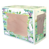 7 1/2 inch x 5 inch x 10 inch Window Cake / Bakery Box with Easter Design - 100 / Bundle