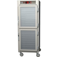 Metro C569-SDC-LPDS C5 6 Series Full Height Reach-In Pass-Through Heated Holding Cabinet - Clear / Solid Dutch Doors