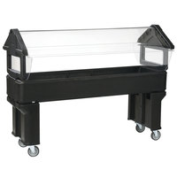 Carlisle 660603 Black 6' Six Star Open Base Portable Food / Salad Bar
