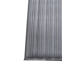 Ribbed Gray Tredlite Vinyl Anti-Fatigue Mat 3' x 5' - 3/8 inch Thick