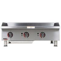 APW Wyott GGM-36i 36 inch Countertop Griddle - 75,000 BTU