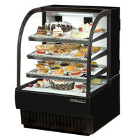True TCGR-31 31 inch Black Curved Glass Refrigerated Bakery Display Case - 16.5 Cu. Ft.