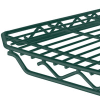 Metro 2136Q-DHG qwikSLOT Hunter Green Wire Shelf - 21 inch x 36 inch