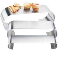 Cal-Mil 1433-55 Large Stainless Steel 3 Curl Riser Set