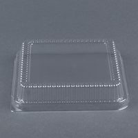 Durable Packaging P1155-500 Clear Lid for 8 inch Square Foil Cake Pan - 500 / Case