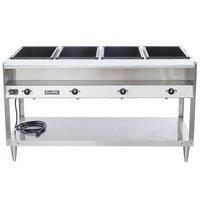 Vollrath 38004 ServeWell Electric Four Pan Hot Food Table 120V - Sealed Well