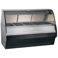 Alto-Shaam TY2SYS-72/PL SS Stainless Steel Display Case with Curved Glass and Base - Left Self Service 72 inch