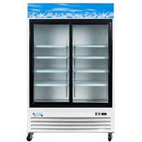 """Avantco GDS47 53"""" Sliding Glass Door White Merchandiser Refrigerator with LED Lighting - 45 cu. ft."""