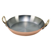 De Buyer 6449.16 Copper Paella Pan - 6 1/4 inch