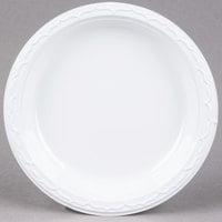 Genpak 70900 Aristocrat 9 inch White Premium Plastic Plate   - 500/Case
