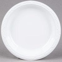 Genpak 70900 Aristocrat 9 inch White Heavy Plastic Plate - 500 / Case