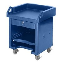 Cambro VCS186 Navy Blue Versa Cart with Standard Casters
