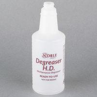 32 oz. Labeled Bottle for Noble Chemical Heavy Duty Degreaser (IMP 5032WG)
