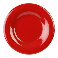 7 7/8 inch Pure Red Wide Rim Melamine Plate 12 / Pack