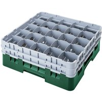 Cambro 25S900119 Camrack 9 3/8 inch High Sherwood Green 25 Compartment Glass Rack