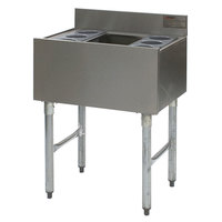 Eagle Group B3CT-16D-22-7 36 inch Underbar Cocktail / Ice Bin with Post-Mix Cold Plate and Eight Bottle Holders