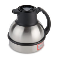 Zojirushi 64 oz. Stainless Steel Deluxe Thermal Carafe with Black Top (Bunn 36029.0001)