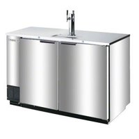 Beverage Air DD78R-1-S Stainless Steel Beer Dispenser 78 inch - 4 Keg Remote Cooled Kegerator