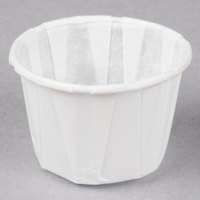 Genpak F100 1 oz. Harvest Paper Souffle / Portion Cup - 250/Pack