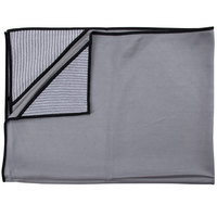 Unger MN60U Ninja MicroWipe 32 inch x 24 inch Gray and Black Premium Microfiber Cleaning Cloth