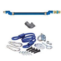 48 inch Dormont 1650BPQSR SwivelMAX Gas Connector Kit with Coiled Restraining Device - 1/2 inch Diameter