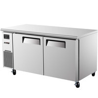 Turbo Air JUF-60 J Series 60 inch Undercounter Freezer with Side Mounted Compressor - 15 Cu. Ft.
