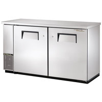 True TBB-24-60FR-S 61 inch Stainless Steel Narrow Food Rated Back Bar Refrigerator with Two Solid Doors