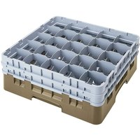 Cambro 25S1214184 Camrack 12 5/8 inch High Beige 25 Compartment Glass Rack