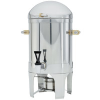Vollrath 48794 5 Gallon Silverplated New York, New York Coffee Urn with Brass Trim